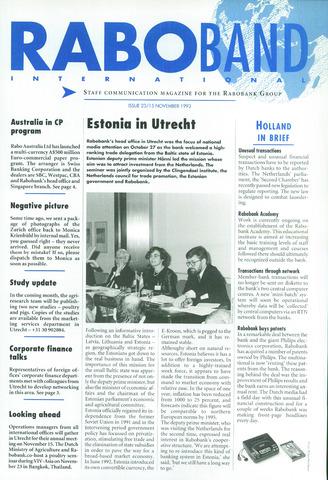 blad 'Raboband International' (EN) 1993-11-15