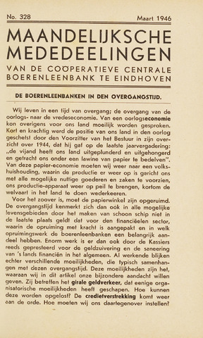 blad 'Maandelijkse Mededelingen' (CCB) 1946-03-01