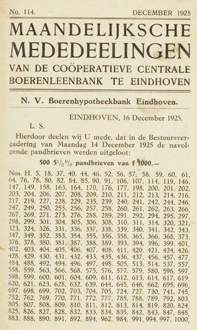 blad 'Maandelijkse Mededelingen' (CCB) 1925-12-01