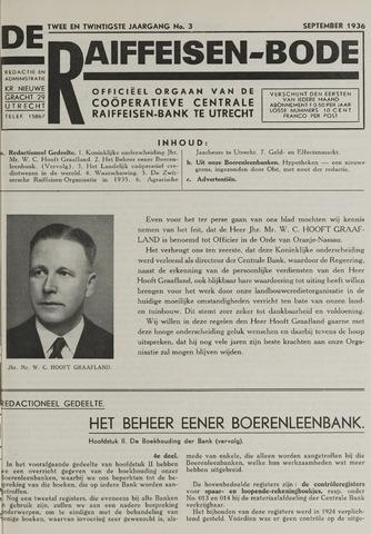 blad 'De Raiffeisen-bode' (CCRB) 1936-09-01