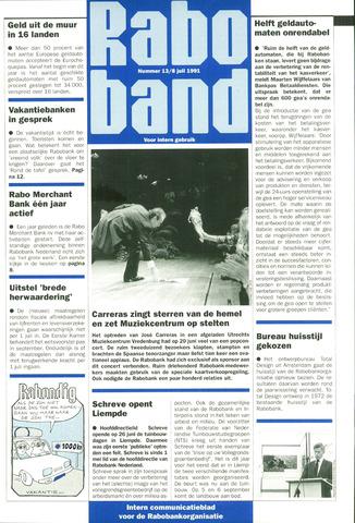 blad 'Raboband' 1991-07-08
