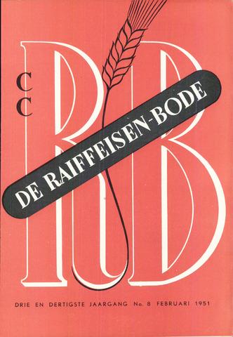 blad 'De Raiffeisen-bode' (CCRB) 1951-02-01