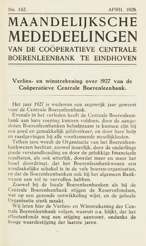 blad 'Maandelijkse Mededelingen' (CCB) 1928-04-01