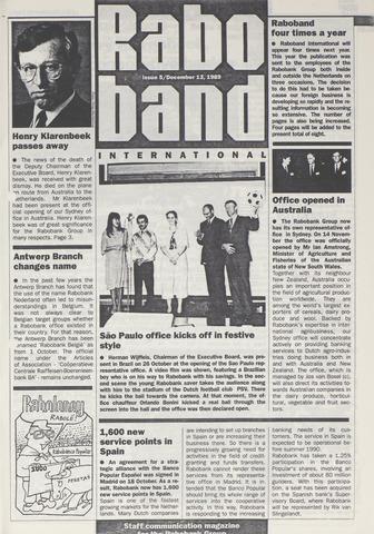blad 'Raboband International' (EN) 1989-12-13