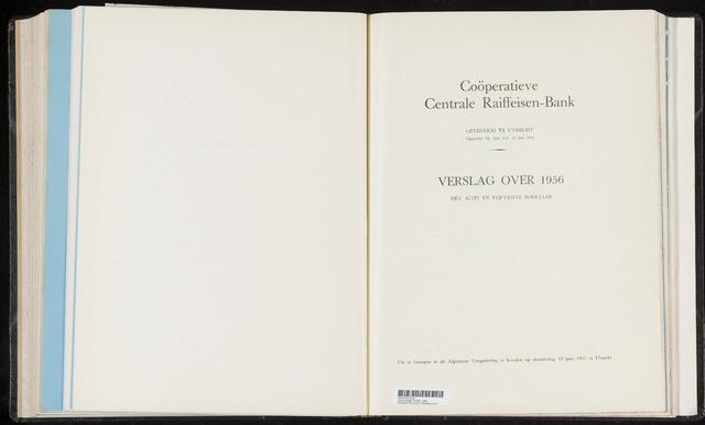 Jaarverslagen Coöperatieve Centrale Raiffeisen-Bank 1956