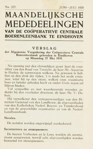 blad 'Maandelijkse Mededelingen' (CCB) 1935-06-01