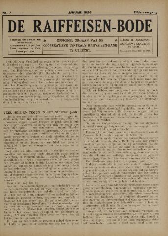 blad 'De Raiffeisen-bode' (CCRB) 1926-01-01
