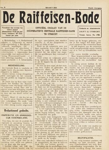 blad 'De Raiffeisen-bode' (CCRB) 1921-03-01