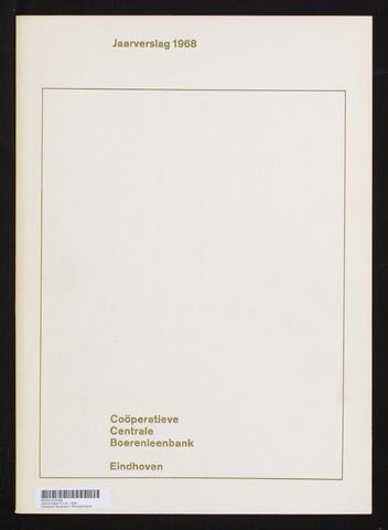 Jaarverslagen Coöperatieve Centrale Boerenleenbank 1968