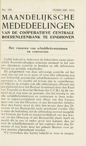blad 'Maandelijkse Mededelingen' (CCB) 1933-02-01