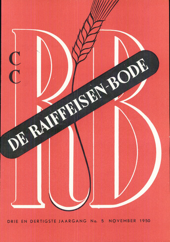 blad 'De Raiffeisen-bode' (CCRB) 1950-11-01