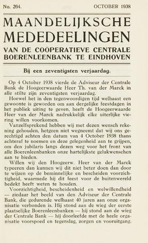 blad 'Maandelijkse Mededelingen' (CCB) 1938-10-01