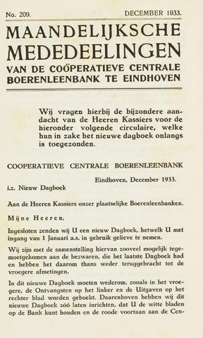 blad 'Maandelijkse Mededelingen' (CCB) 1933-12-01