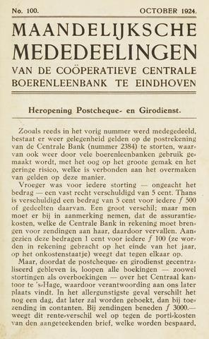 blad 'Maandelijkse Mededelingen' (CCB) 1924-10-01