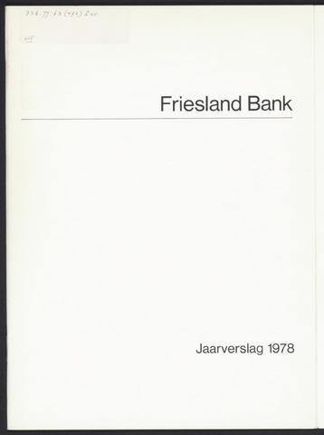 Jaarverslagen Friesland Bank 1978