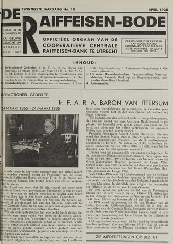 blad 'De Raiffeisen-bode' (CCRB) 1935-04-01