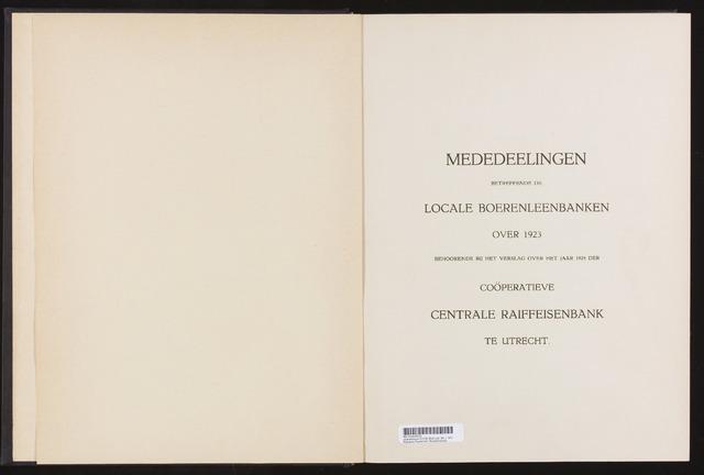 Mededelingen lokale banken CCRB 1923-12-31