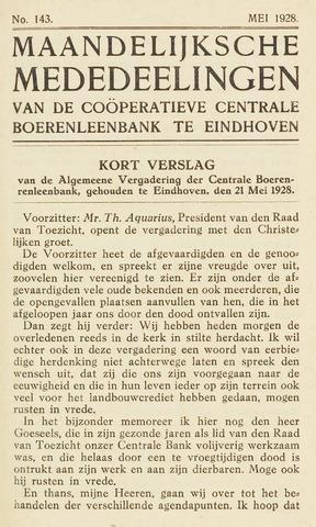 blad 'Maandelijkse Mededelingen' (CCB) 1928-05-01
