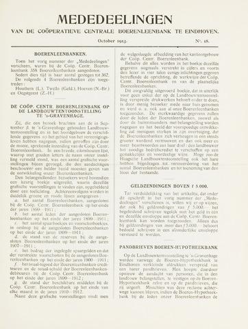 blad 'Mededeelingen' (CCB) 1913-10-01