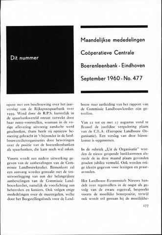 blad 'Maandelijkse Mededelingen' (CCB) 1960-09-01