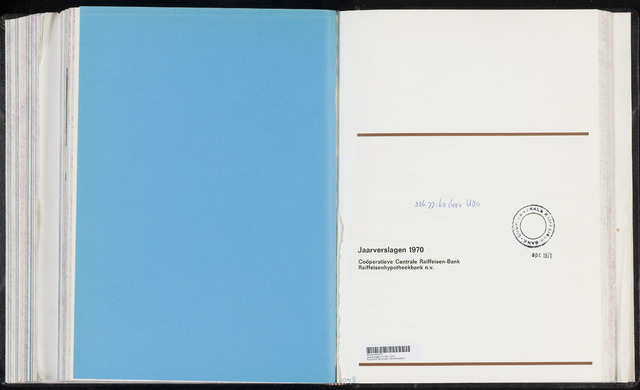 Jaarverslagen Coöperatieve Centrale Raiffeisen-Bank 1970-12-31