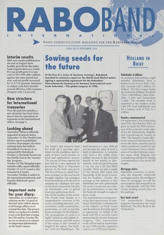 blad 'Raboband International' (EN) 1994-09-19