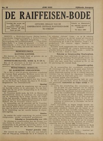 blad 'De Raiffeisen-bode' (CCRB) 1930-06-01