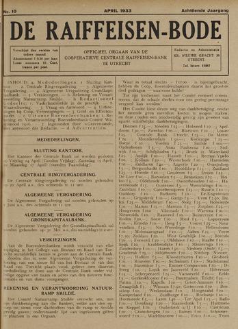 blad 'De Raiffeisen-bode' (CCRB) 1933-04-01