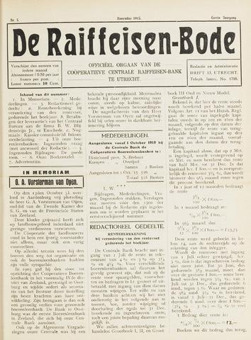 blad 'De Raiffeisen-bode' (CCRB) 1915-11-01