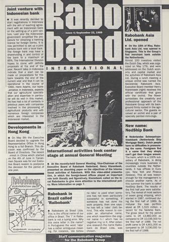 blad 'Raboband International' (EN) 1989-09-22
