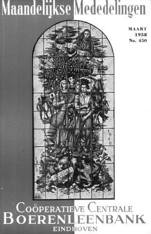 blad 'Maandelijkse Mededelingen' (CCB) 1958-03-01