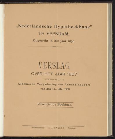 Jaarverslagen Nederlandsche Hypotheekbank 1907