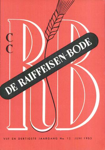 blad 'De Raiffeisen-bode' (CCRB) 1953-06-01