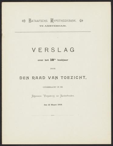 Jaarverslagen Bataafsche Hypotheekbank 1907