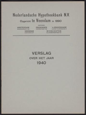 Jaarverslagen Nederlandsche Hypotheekbank 1940