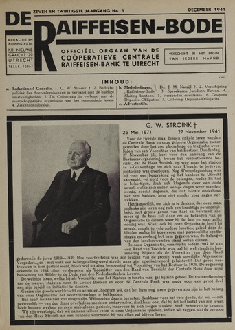 blad 'De Raiffeisen-bode' (CCRB) 1941-12-01