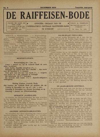 blad 'De Raiffeisen-bode' (CCRB) 1926-12-01