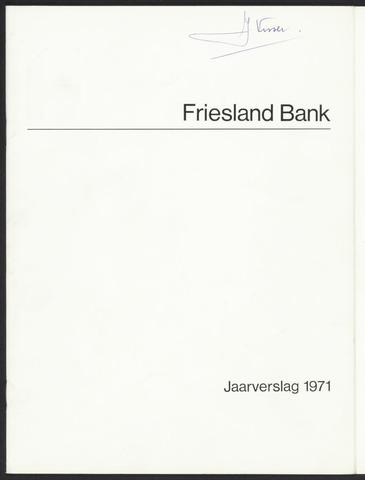 Jaarverslagen Friesland Bank 1971