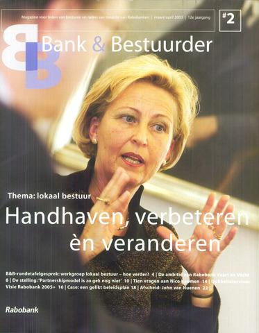 blad 'Bank & Bestuurder' 2003-03-01