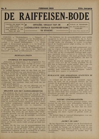 blad 'De Raiffeisen-bode' (CCRB) 1926-02-01