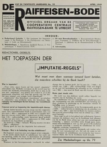 blad 'De Raiffeisen-bode' (CCRB) 1940-04-01