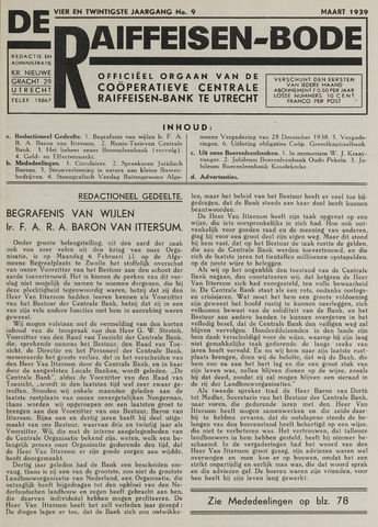 blad 'De Raiffeisen-bode' (CCRB) 1939-03-01