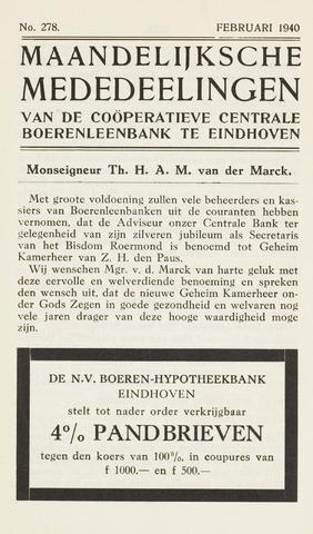 blad 'Maandelijkse Mededelingen' (CCB) 1940-02-01