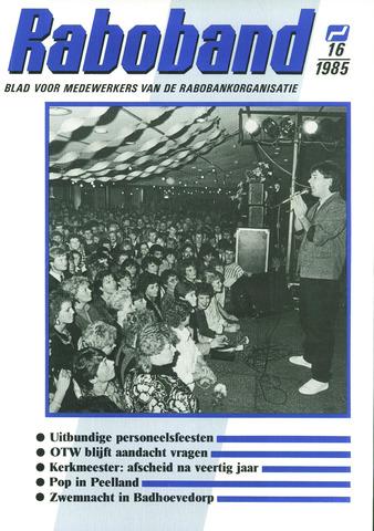 blad 'Raboband' 1985-11-27