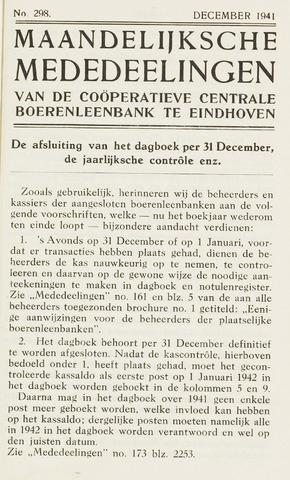 blad 'Maandelijkse Mededelingen' (CCB) 1941-12-01