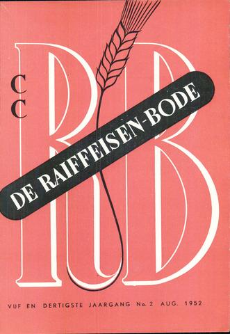 blad 'De Raiffeisen-bode' (CCRB) 1952-08-01