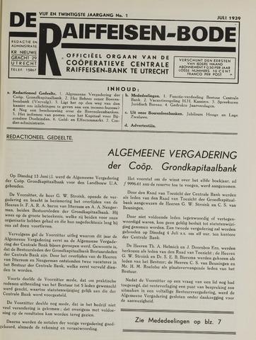 blad 'De Raiffeisen-bode' (CCRB) 1939-07-01