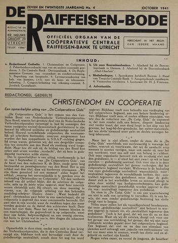 blad 'De Raiffeisen-bode' (CCRB) 1941-10-01