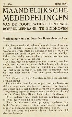 blad 'Maandelijkse Mededelingen' (CCB) 1926-06-01