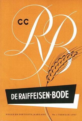 blad 'De Raiffeisen-bode' (CCRB) 1957-02-01